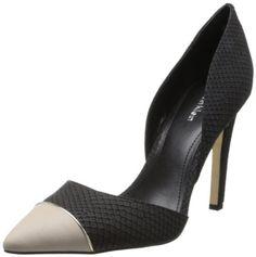 Calvin Klein Women's Belle Mt Snake/CBRTTA D'Orsay Pump,Black/Bone,5 M US Calvin Klein,http://www.amazon.com/dp/B00F4PNO40/ref=cm_sw_r_pi_dp_6hf6sb1WVNAYRPVE
