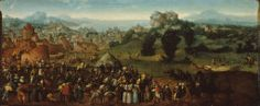 Jan van Scorel Netherlandish, 1495-1562, Landscape with Tournament and Hunters