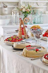 VIBEKE DESIGN: Tilbakeblikk på den store konfirmajonsdagen ! Beautiful Norway, Vibeke Design, Hygge, Scandinavian, Deserts, Food And Drink, Dishes, Table Decorations, Ancestry