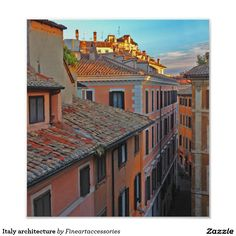 Italy architecture poster