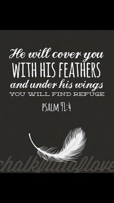 My favorite words in the Bible - Psalm Bible Verse Favorite Bible Verses, Bible Verses Quotes, Bible Scriptures, Family Scripture, Scripture Art, The Words, Quotes To Live By, Me Quotes, Psalm 91 4