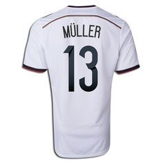 9ccd6365972 2014 Thomas Muller  13 Germany Authentic Home Men s Soccer Jersey