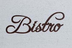 Bistro Word Antique Copper Color Kitchen/Home Decor Metal Wall Art