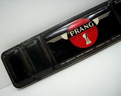 Vintage Prang Watercolor Paints Tin Box with Brush 1950s