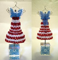 USA Patriotic Bead Dress by pinkythepink on deviantART