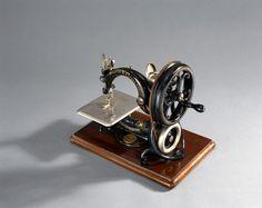 Willcox and Gibbs chain-stitch sewing machine, c 1890.