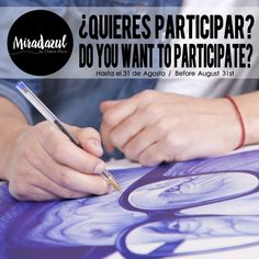 If you are interested in participate in MiradAzul project, just follow my facebook website https://www.facebook.com/Miradazul and send me a portrait of elderly person to  chemofe@hotmail.com before August 31st. Among all the received pictures, the selected winner will get an original pen painted portrait.
