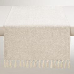 One of my favorite discoveries at WorldMarket.com: Ivory and Silver Herringbone Table Runner | $10