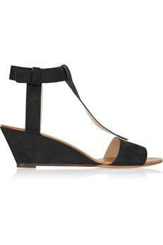 Chloé Suede wedge sandals | NET-A-PORTER
