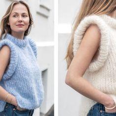 MinMote.no - Norges største moteside Knit Crochet, High Neck Dress, Vest, Turtle Neck, Wool, Hoodies, Knitting, Sweaters, Knits