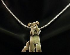 Collar de plata esterlina Schnauzer Sasha por JYLbyPeekaliu