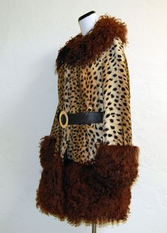 The Absolute BEST Lilli Ann Paris Faux Leopard & Mongolian Lamb Fur 60s Coat. 650.00, via Etsy.