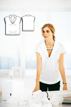 V-Neck Maternity Blouse 06/2010 #sewing #sewingpattern #maternitypattern #maternity #diy #burdastyle