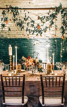 Elegant vintage wedding inspiration | Venue at Monroe Cotton Mills | Photo by VUE Photography | Read more - http://www.100layercake.com/blog/?p=67116