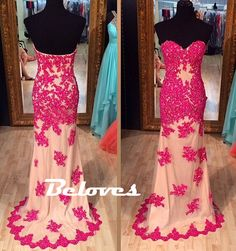 """Fabric:Tulle+ Neckline:Sweetheart+ Color:Rose+Red Embellishments:Beading,Lace+Appliques Silhouettes:Mermaid+ Custom+Made+:+We+also+accept+custom+made+size+and+color+.+Please+click+the+""""contact+us+""""and+send+your+size+and+color+to+our+email+.+Or+just+leave+a+message+to+us+when+placing+the+orde..."""