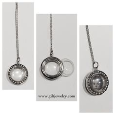 This double-sided c1950 14k white gold and pearl locket will be the perfect keepsake for you or your sweetheart. $595. Call to purchase. #giltjewelry #vintage #locket #vintagelocket #keepsake #heirloom #whitegold #pearls #memories
