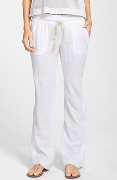 Free shipping and returns on Roxy 'Oceanside' Beach Pants at Nordstrom.com. Nautical inspiration shows in the narrow rope drawstring cinching the gathered waist of gauzy cover-up pants that make the drive home from the beach a little better.