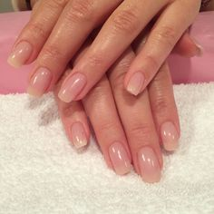 Nude Acrylic nails by Trine done at California Nails #californianails #nails #negler #nailart #design #glitter #stavanger #norway #norge #chrome #glitter #dailycharme #acrylic #shellac #nude