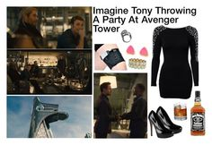"""Imagine Tony Throwing A Party At Avenger Tower"" by alyssaclair-winchester ❤ liked on Polyvore featuring мода, Club L, ALDO, Eilisain Jewelry, Luigi Bormioli и Phase 3"