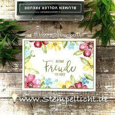 Stempellicht: Blumen voller Freude Stampin Up Karten, Karten Diy, Stampin Up Cards, Pretty Cards, My Stamp, Stamping Up, Flower Cards, Pansies, Perennials