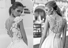 Odkryte plecy w sukniach ślubnych illusion back wedding dress 2016 - Lanesta / Ana lisa