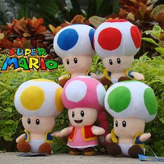 Super Mario Bros Plush Toy Toad Nintendo Game Cuddly Stuffed Animal Doll
