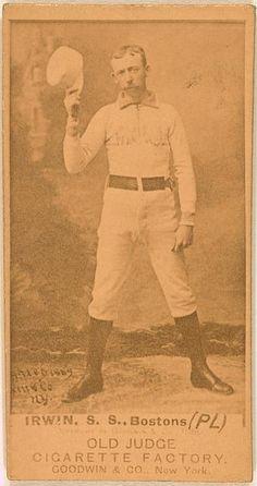 [Arthur Irwin, Boston Beaneaters, baseball card portrait]