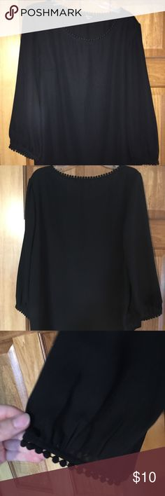 Black blouse Black Soprano blouse from Dillards Tops Blouses