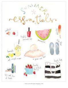 collegegirlwithpearls:summer essentials.