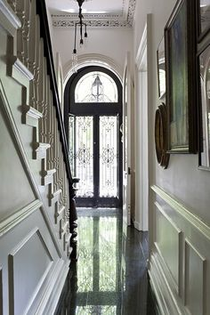 Entryway - restored 1890's brownstone in Brooklyn - via The Caledonian Mining Expedition Company: Jewels in the Crown