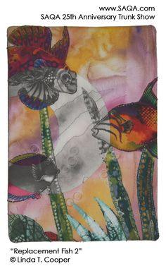 Art quilt by Linda T Cooper #artquilts #SAQA