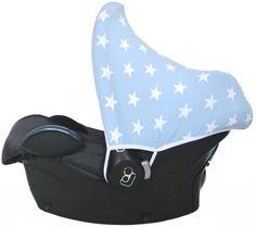 Zonnekap Ster Lichtblauw canopy sun hood car seat maxi cosi sonnenverdeck bezug cover pimp your car seat hoes bekleding