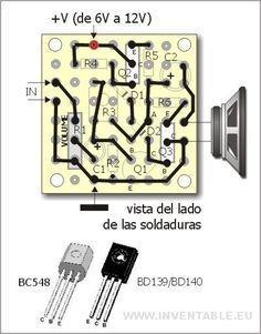 Mini Amplificador Con Solo 3 Transistores Inventable Amplificador Amplificador De Audio Componentes Electronicos