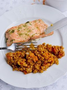 Pradobroty: Červená čočka jako příloha Fish Recipes, Lunch Recipes, Vegetable Recipes, Vegetarian Recipes, Dinner Recipes, Cooking Recipes, Healthy Recipes, A Food, Food And Drink