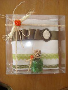 kokulu tas ve banyo tuzu havlu konsept - handmade