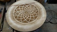 Wood turned piece with chip carved embellishment. by Matthew Burch https://www.facebook.com/matthew.burch.54?fref=nf