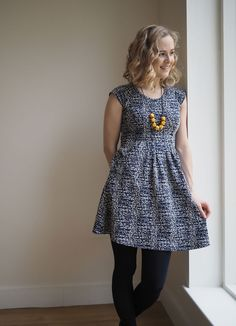 Lauren's super comfy Zadie dress - sewing pattern by Tilly and the Buttons