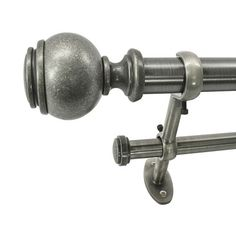 Found it at Wayfair - 22 Park West Capped Ball Telescoping Double Curtain Rod and Hardware Set
