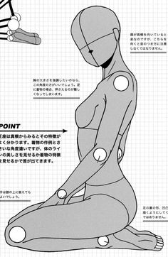 AnatoRef — Manga Female Seated Pose Reference.