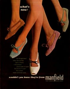 SWEET JANE: Vintage 60s Advert: Manfield Shoes 1966