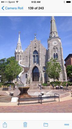 St. John's Catholic Church on the Creighton University Campus in Omaha, Nebraska.