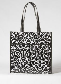 The six pocket tote is part of the Mixed Bag Designs collection of reusable bags and totes