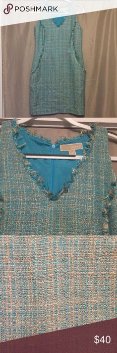 Michael Kors dress Great condition, worn once! Michael Michael Kors dress in size 2. tweed emerald green - gorgeous color! Sleeveless with zipper in the back. Very comfortable MICHAEL Michael Kors Dresses Midi