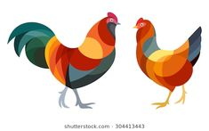 Find Stylized Chicken Hens stock images in HD and millions of other royalty-free stock photos, illustrations and vectors in the Shutterstock collection. Polygon Art, Chickens And Roosters, Galo, Scroll Saw Patterns, Bird Illustration, Stencil Art, Animals Images, Bird Prints, Bird Art
