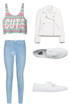 """Untitled #111"" by kendallrose0716 ❤ liked on Polyvore featuring 7 For All Mankind, MANGO and Vans"