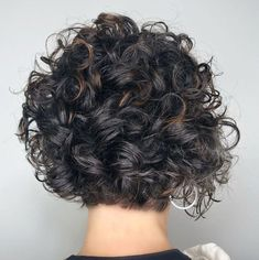 65 Different Versions of Curly Bob Hairstyle Short Curly Brunette Bob With Babylights Short Curly Bob, Haircuts For Curly Hair, Curly Hair Cuts, Short Bob Hairstyles, Hairstyles Haircuts, Short Hair Cuts, Pixie Haircuts, Medium Hairstyles, Black Hairstyles