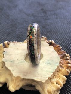 Wedding Bands Mens Opal Ideas For 2019 Deer Antler Jewelry, Antler Ring, Wedding Rings Rose Gold, Wedding Bands, Wedding Dress, Wedding Photo Walls, Ring Cuts, Wedding Gifts For Parents, Ring Displays