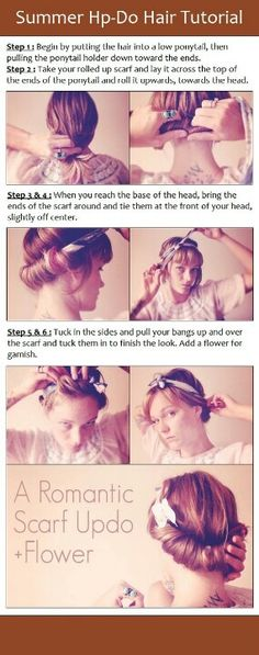 DIY hairstyle instead of a scarf, a headband