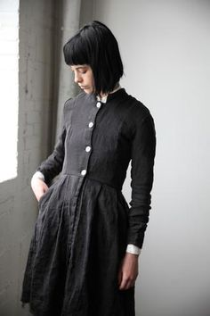 Fashion Tips For Women Suits Modest Fashion, Fashion Dresses, Fashion Tips For Women, Womens Fashion, Black Linen, Grunge Style, Long Jackets, I Dress, Cool Outfits