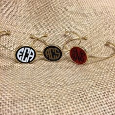Personalized Enamal Bracelet - NEW! Available in school colors!  $28.95 includes monogram